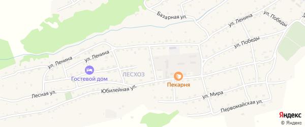 Юбилейный переулок на карте села Онгудая Алтая с номерами домов