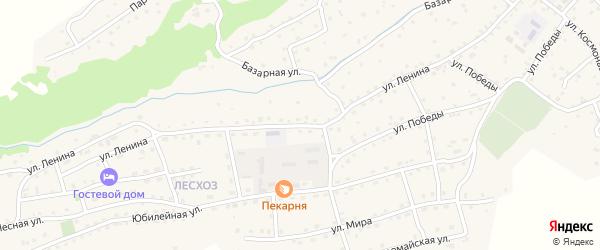 Улица Ленина на карте села Онгудая Алтая с номерами домов