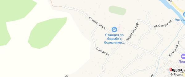 Горная улица на карте села Онгудая Алтая с номерами домов