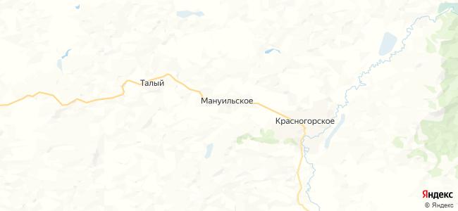Мануильское на карте