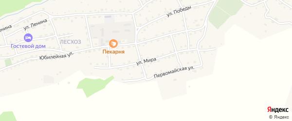 Улица Мира на карте села Онгудая Алтая с номерами домов