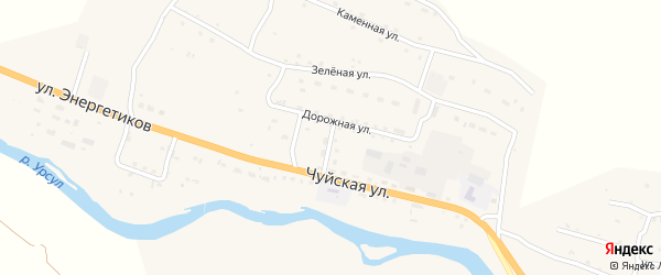 Дорожная улица на карте села Онгудая Алтая с номерами домов