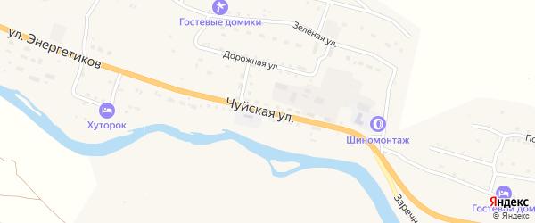 Чуйская улица на карте села Онгудая Алтая с номерами домов