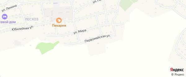 Первомайская улица на карте села Онгудая Алтая с номерами домов