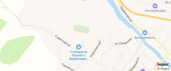 Урсульская улица на карте села Онгудая Алтая с номерами домов