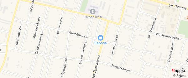 Улица Лермонтова на карте Асино с номерами домов