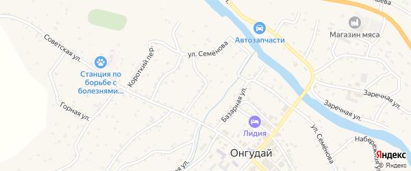 Импортная улица на карте села Онгудая Алтая с номерами домов