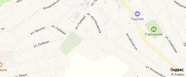 Переулок Космонавтов на карте села Онгудая Алтая с номерами домов