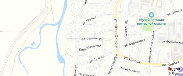 Театральная улица на карте Березовского с номерами домов