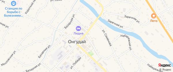 Улица Ерзумашева на карте села Онгудая Алтая с номерами домов