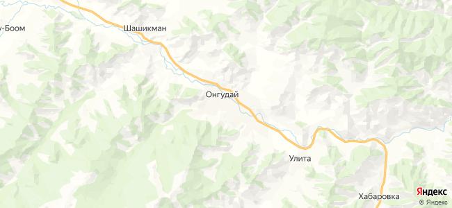 Онгудай на карте
