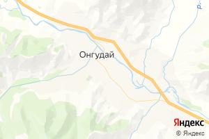 Карта с. Онгудай Республика Алтай