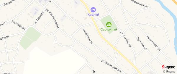 Алтайская улица на карте села Онгудая Алтая с номерами домов