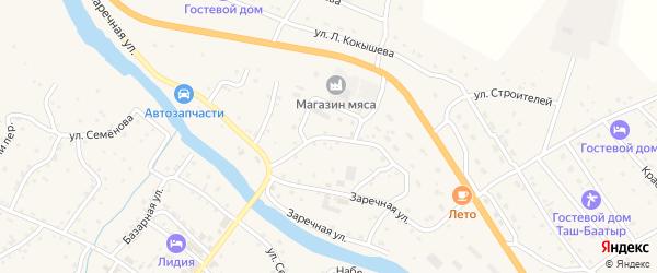 Кооперативная улица на карте села Онгудая Алтая с номерами домов