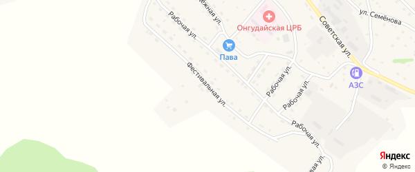 Фестивальная улица на карте села Онгудая Алтая с номерами домов