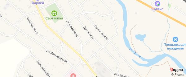 Луговая улица на карте села Онгудая Алтая с номерами домов