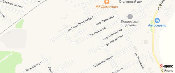 Таганская улица на карте Асино с номерами домов