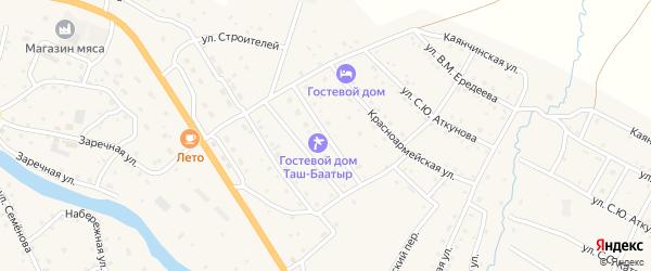 Улица Дружба народов на карте села Онгудая Алтая с номерами домов