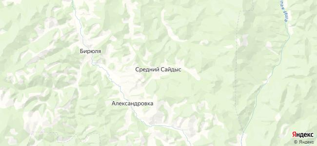 Средний Сайдыс на карте