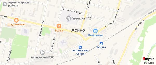 Дамбовая улица на карте Асино с номерами домов