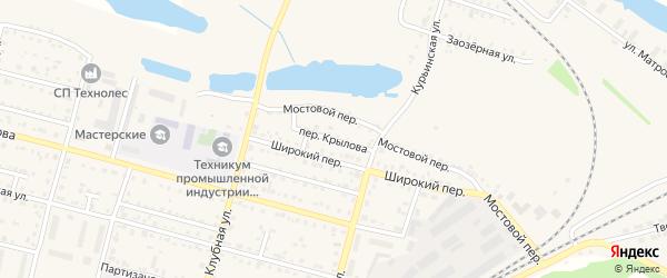 Переулок им Крылова на карте Асино с номерами домов