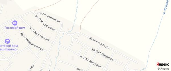 Каянчинская улица на карте села Онгудая Алтая с номерами домов