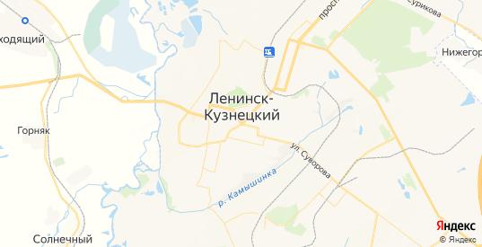 Карта Ленинска-Кузнецкого с улицами и домами подробная. Показать со спутника номера домов онлайн