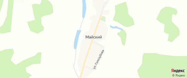 Карта Майского поселка в Кемеровской области с улицами и номерами домов