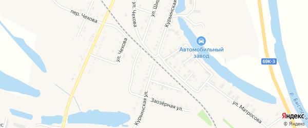 Курьинская улица на карте Асино с номерами домов