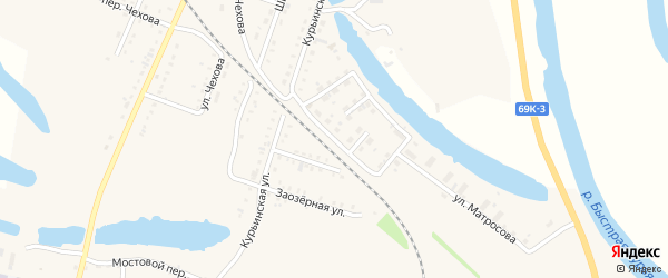Сибирский переулок на карте Асино с номерами домов