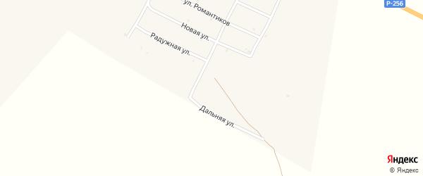 Дальняя улица на карте села Онгудая Алтая с номерами домов