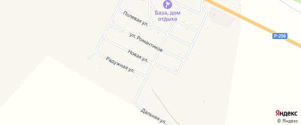 Новая улица на карте села Онгудая Алтая с номерами домов