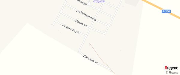 Радужная улица на карте села Онгудая с номерами домов