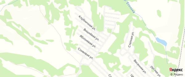 Территория СНТ Источник на карте Ленинск-кузнецкого района Кемеровской области с номерами домов