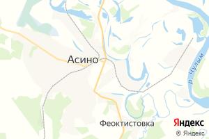 Карта г. Асино Томская область