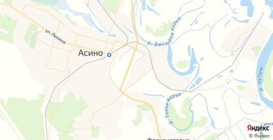 Карта Асино с улицами и домами подробная. Показать со спутника номера домов онлайн