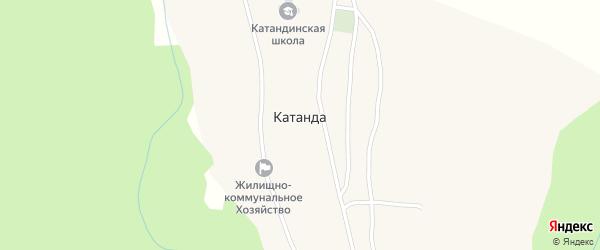 Спортивный переулок на карте села Катанды Алтая с номерами домов