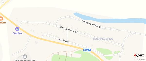Гидролизная улица на карте Асино с номерами домов