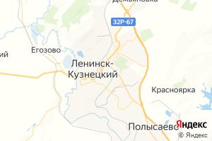 Карта г. Ленинск-Кузнецкий Кемеровская область