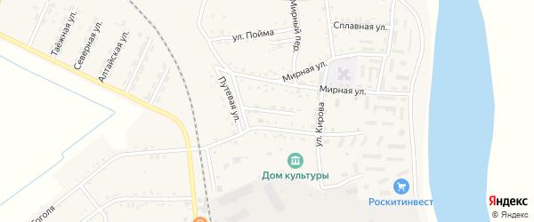 Путевой переулок на карте Асино с номерами домов