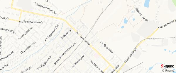 Территория СНТ Химик на карте Ленинск-кузнецкого района Кемеровской области с номерами домов