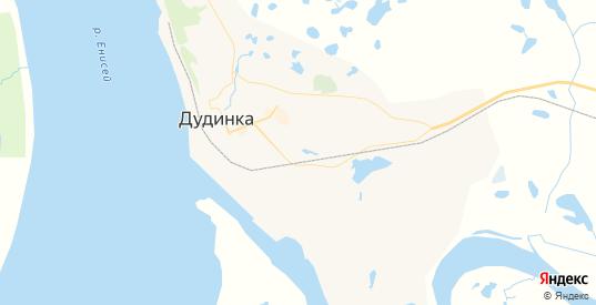 Карта Дудинки с улицами и домами подробная. Показать со спутника номера домов онлайн