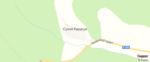 Лесной переулок на карте села Сухого-Карасука Алтая с номерами домов