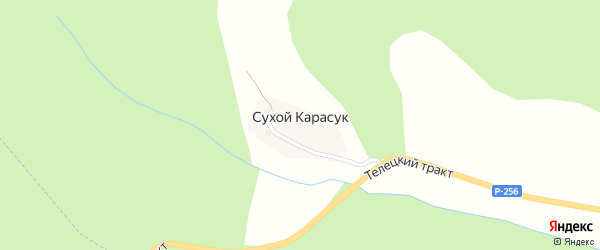 Нагорный переулок на карте села Сухого-Карасука Алтая с номерами домов