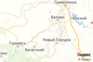 Карта г. Белово Кемеровская область