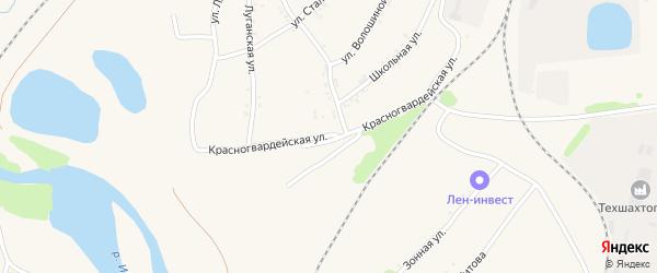 Красногвардейская улица на карте Полысаево с номерами домов