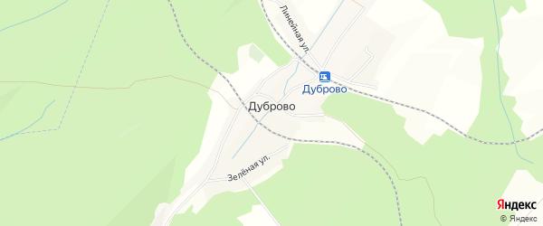Карта поселка Дуброво Краснобродского поселка в Кемеровской области с улицами и номерами домов