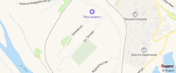 Улица Титова на карте Полысаево с номерами домов