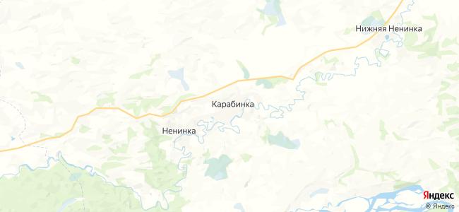Карабинка на карте
