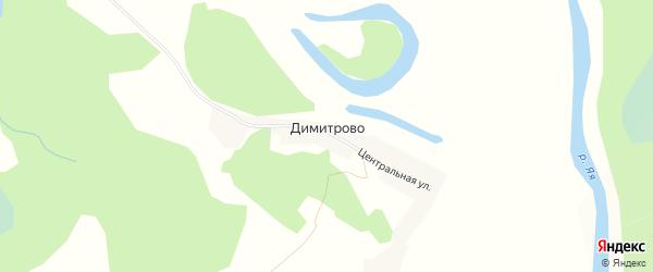 Карта поселка Димитрово в Кемеровской области с улицами и номерами домов